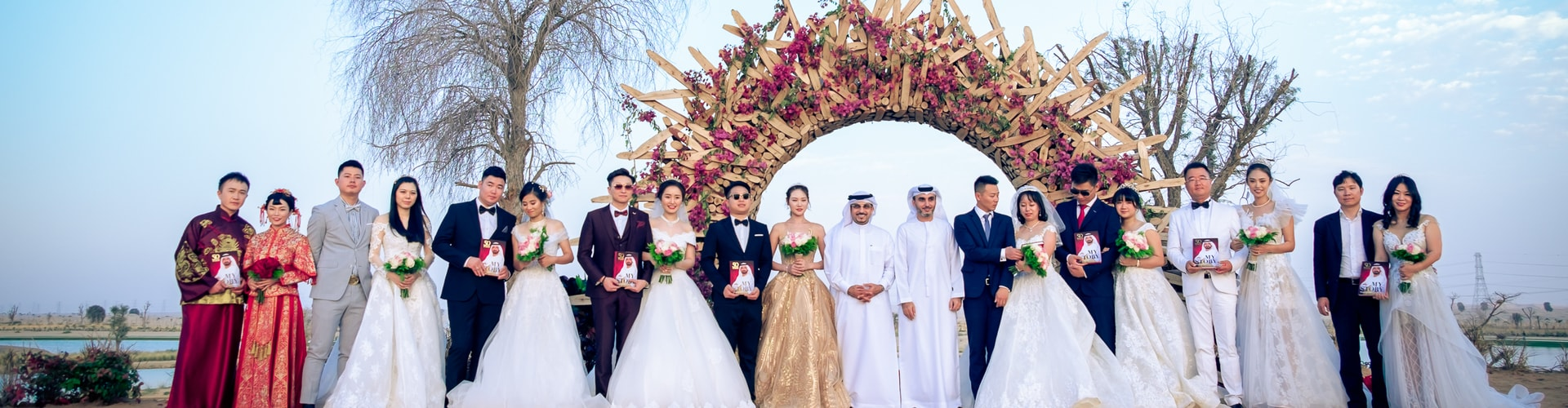 Watch: Dubai's Love Lakes Transform into Stunning Wedding Destination for Chinese Couples